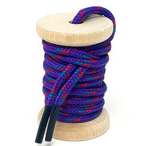 Purple, Teal & Red Boot Laces
