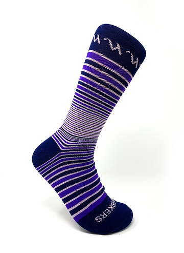 The Jacques Stripe - Purple/Navy/Lt Pink