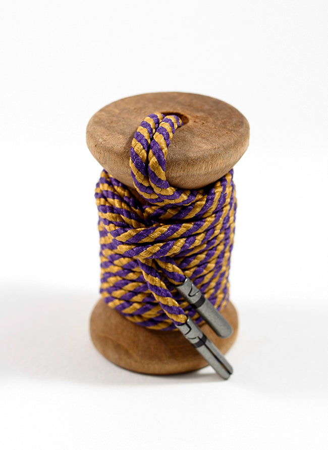 Purple & Gold Striped Dress Laces