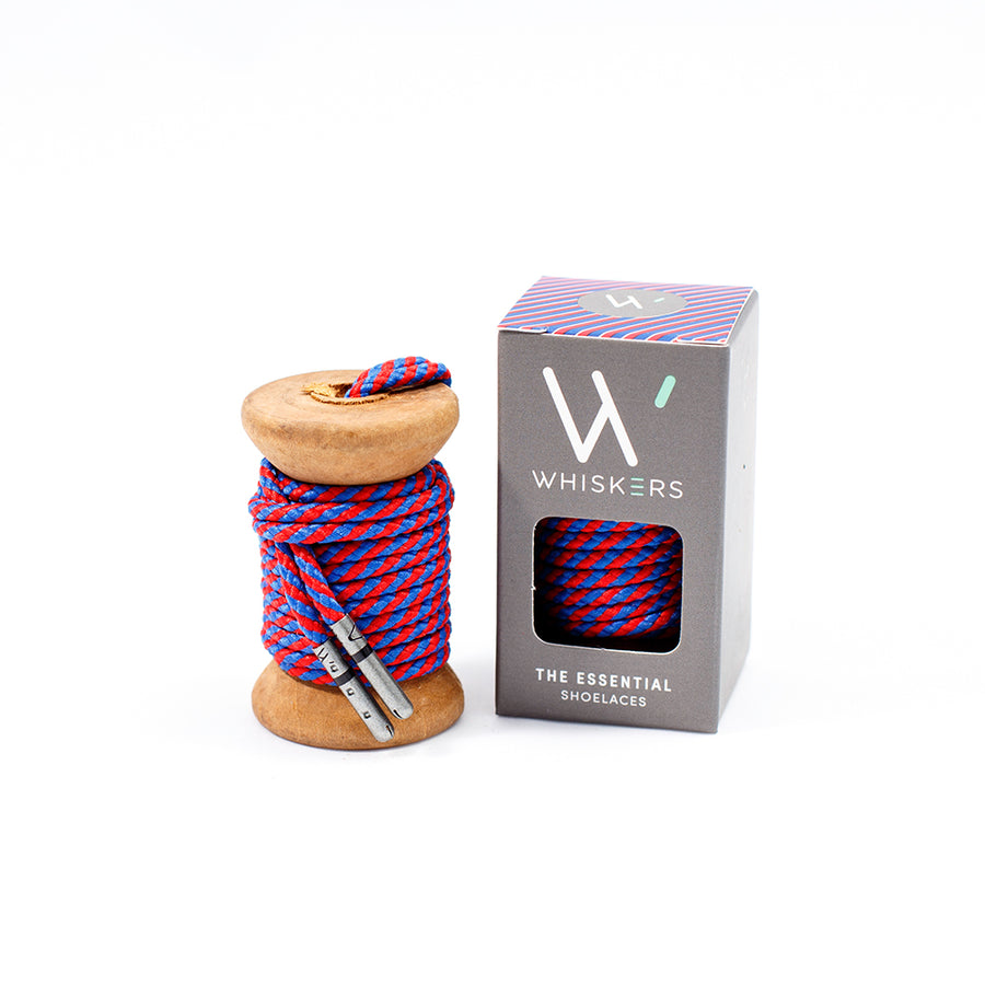 Red & Blue Striped Dress Laces