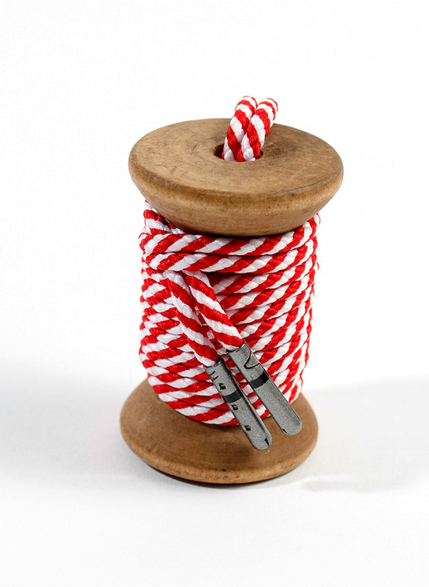 Red & White Striped Dress Laces 1