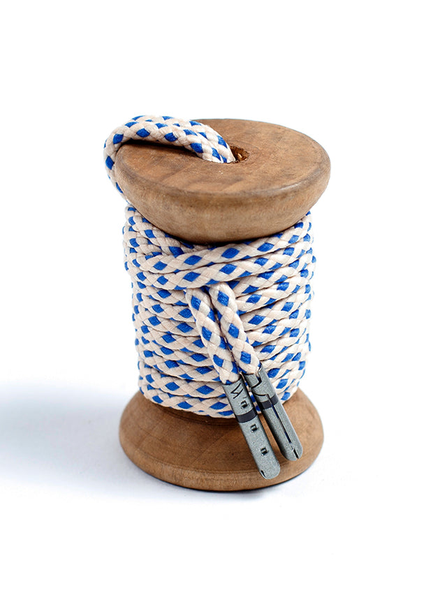 Sand & Blue Braided Dress Laces 1