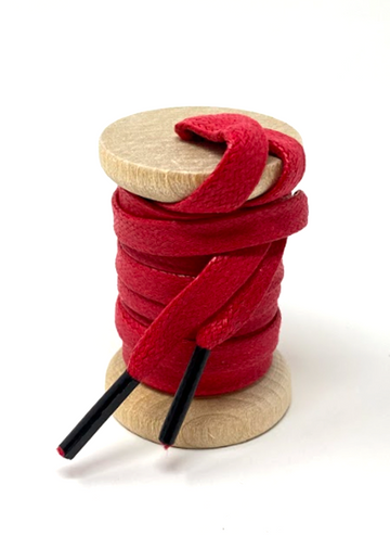 Solid Red Glazed Sneaker Laces