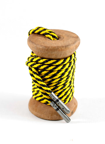 Black & Yellow Striped Dress Laces
