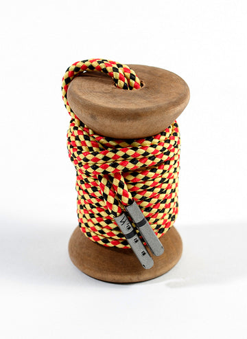 Yellow, Red & Black Braided Dress Laces