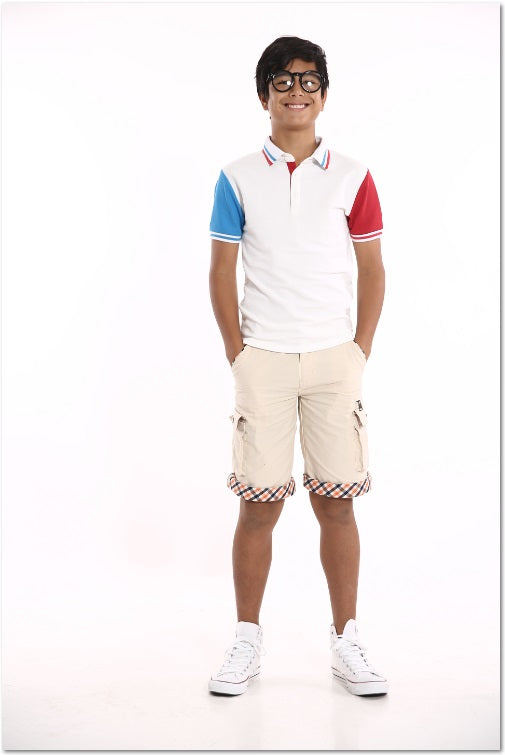 Colour-Blocking Polo Shirt