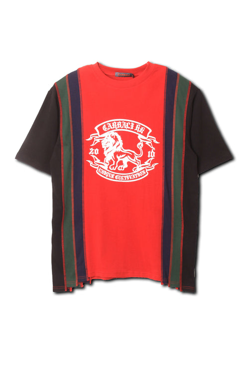 Vintage colour block logo tee