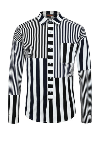 Striped Patchwork Shirt