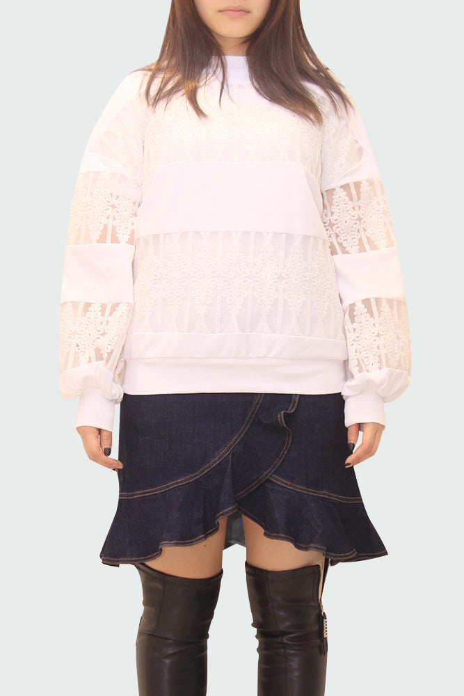Patchwork Lace Sweater