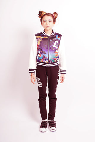 Colour Block Bomber Jacket