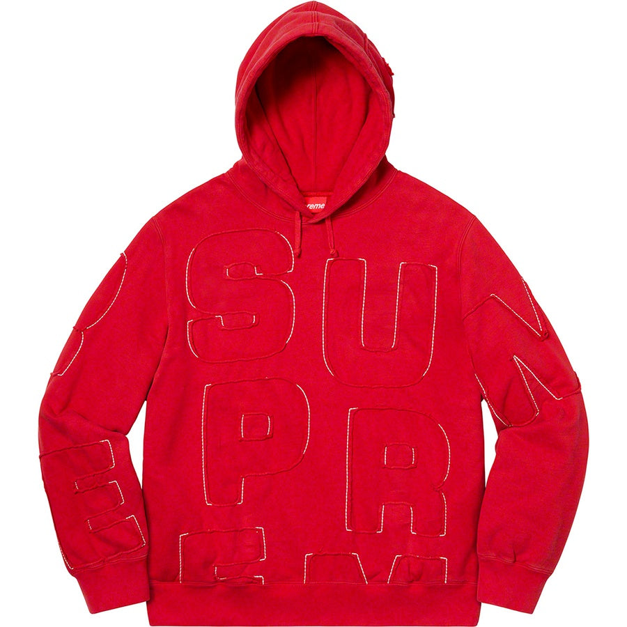 Cutout Letters Hooded Sweatshirt