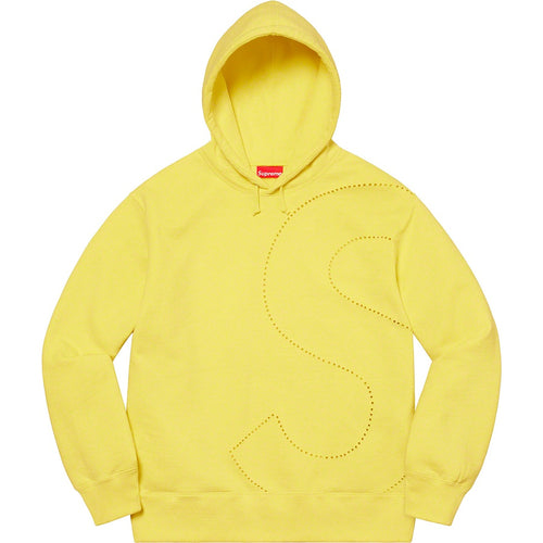 Laser Cut S Logo Hooded Sweatshirt