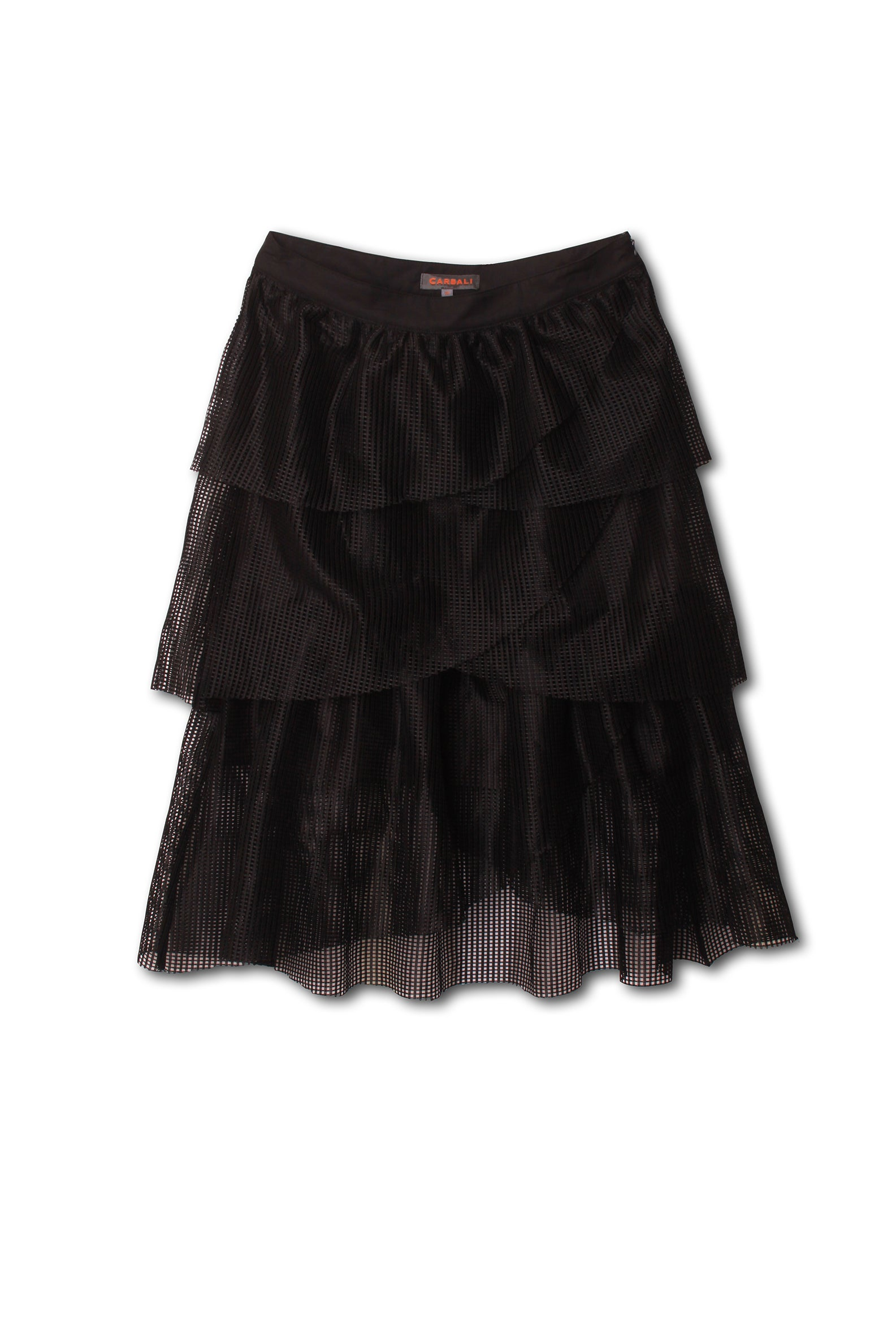 Chiffon trim pleated skirt dress