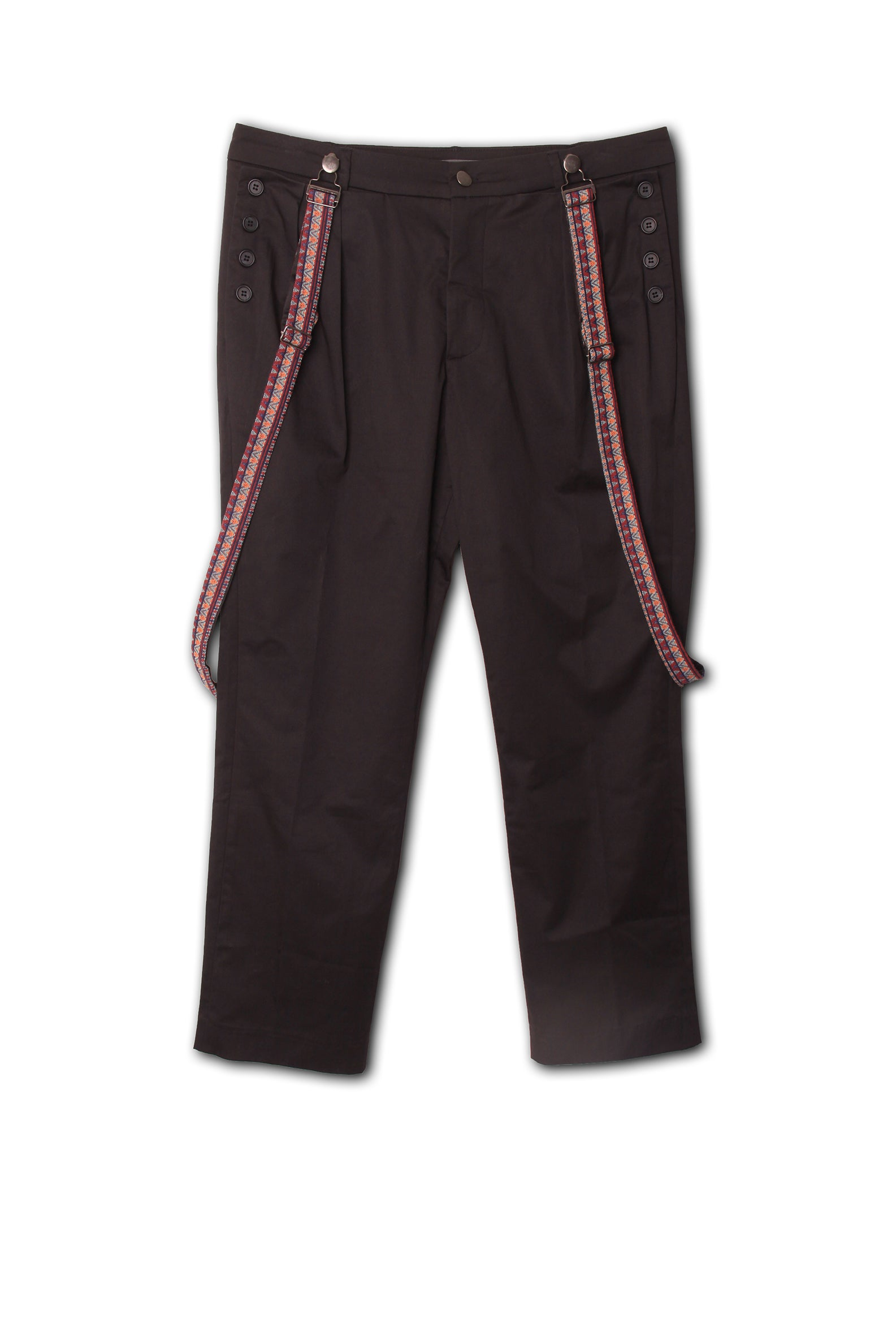 Ethnic work pant chino in black