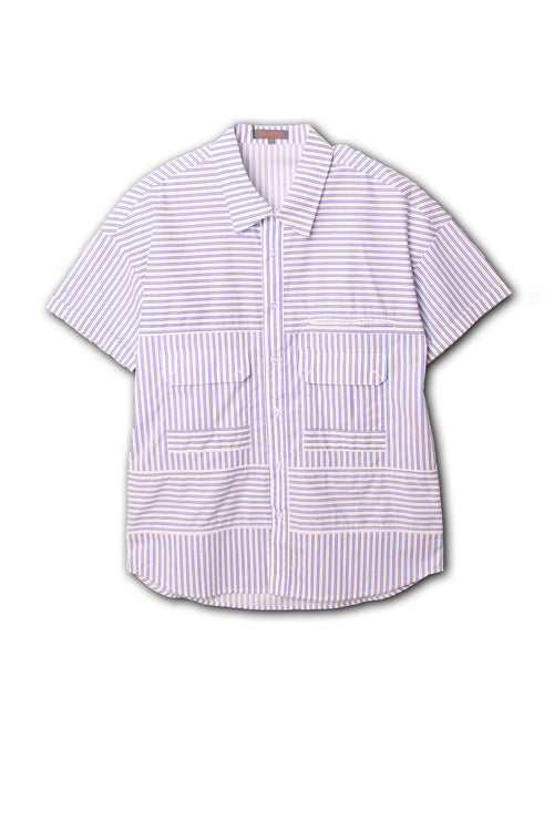 Casual patchwork summer shirt