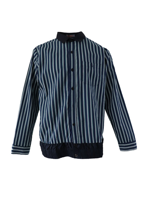 Stripped shirt with nylon hem