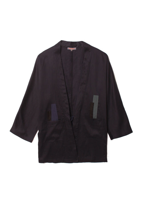 Patch work  long sleeve kimono