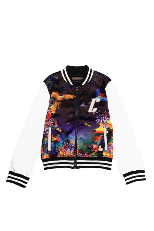 Forest Print Bomber Jacket