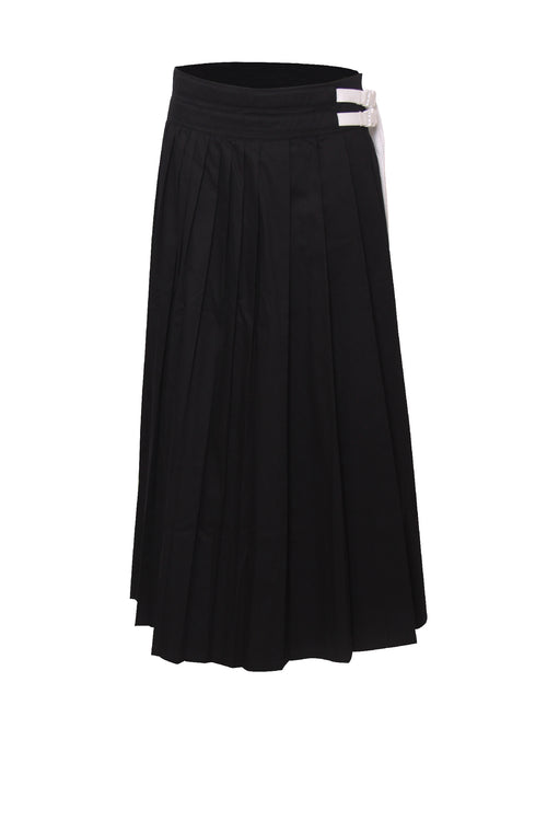 Irregular Maxi Pleated Skirt