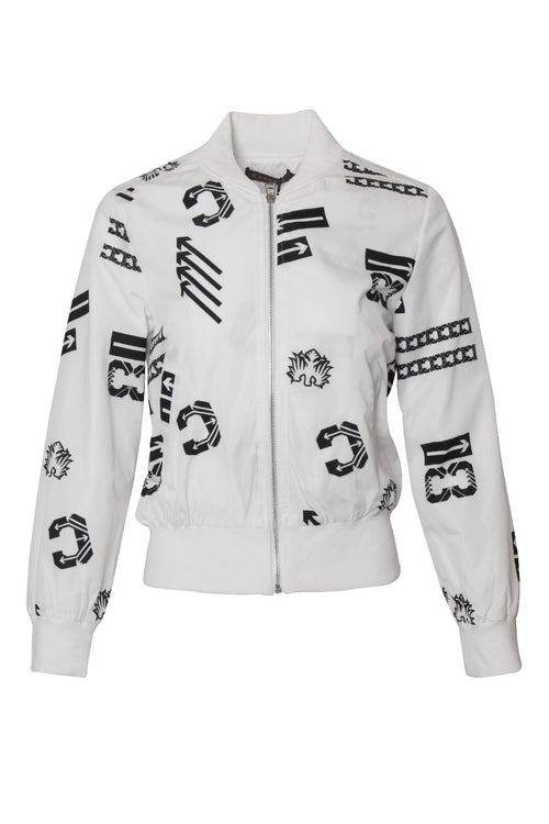 Brand Graphic Bomber Jacket