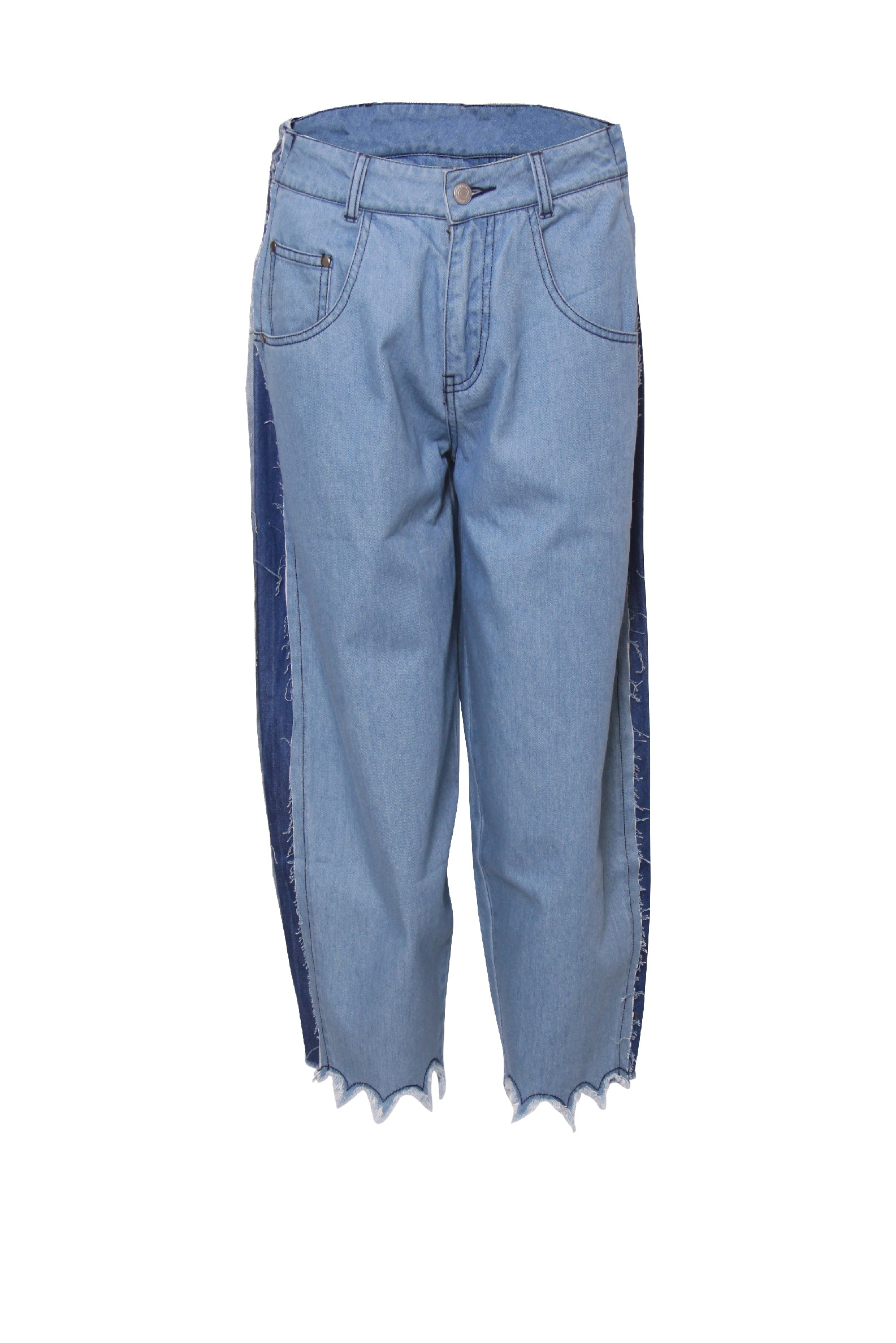 Waves Hem Vintage Mom Jean