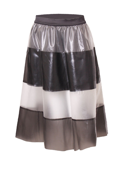 Pleated Colourblock Skirt