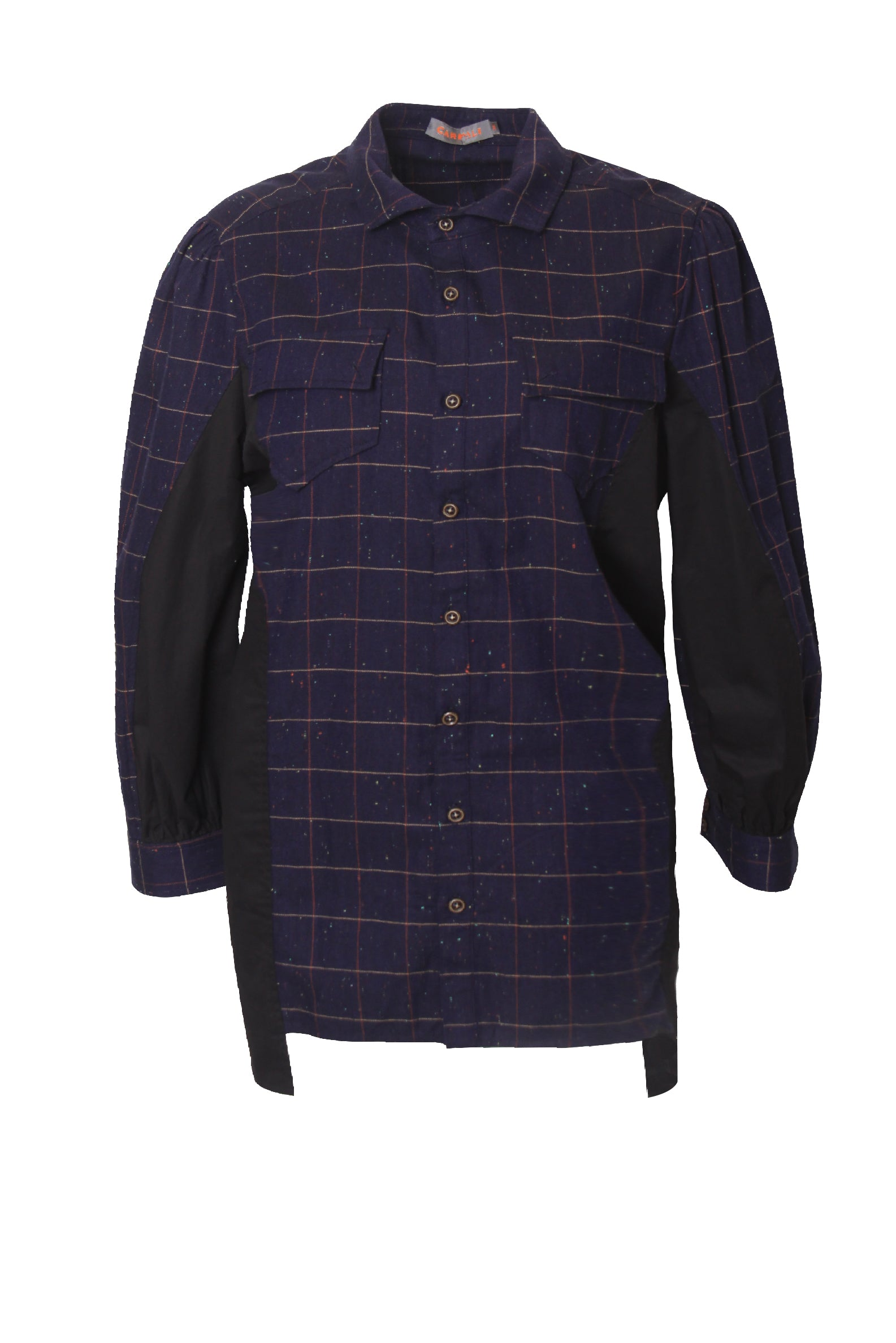 Patchwork Long Sleeves Checker Shirt