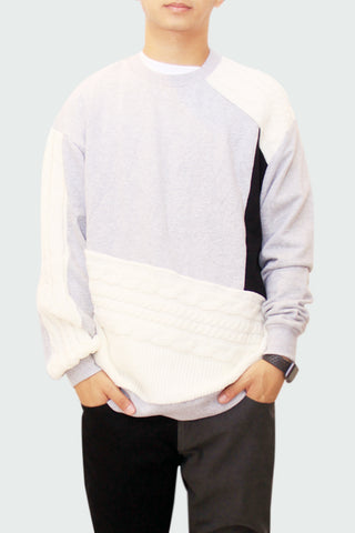 Color Block Knitted shirt