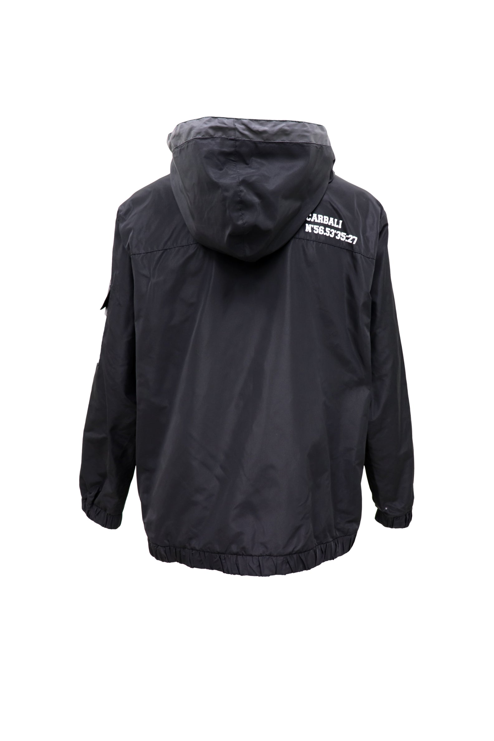 Over the head sport hoody in black