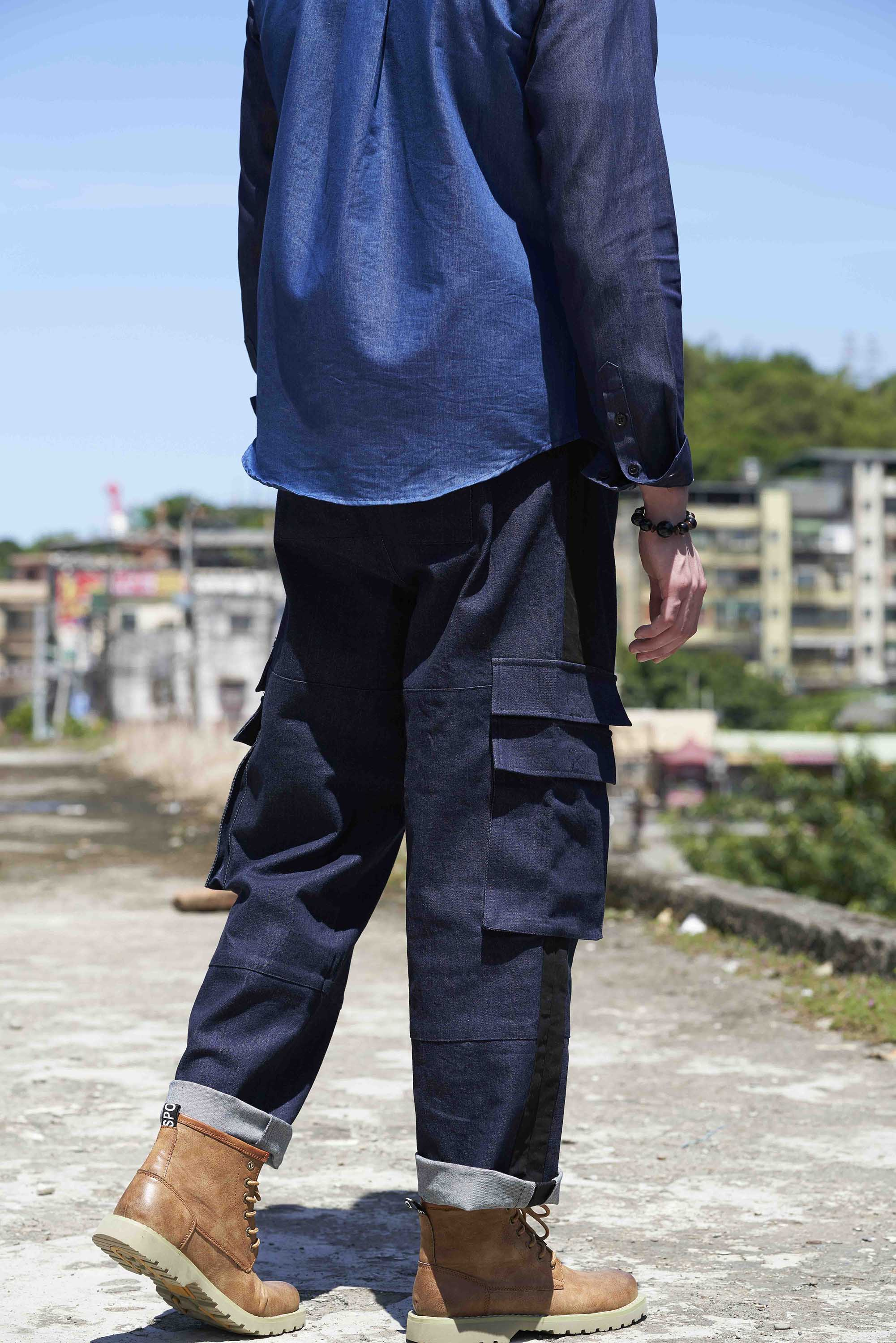 New Look cargo trousers with side stripe