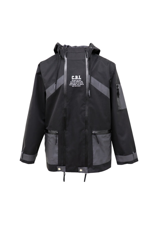 Over the head sporty jacket in double zip