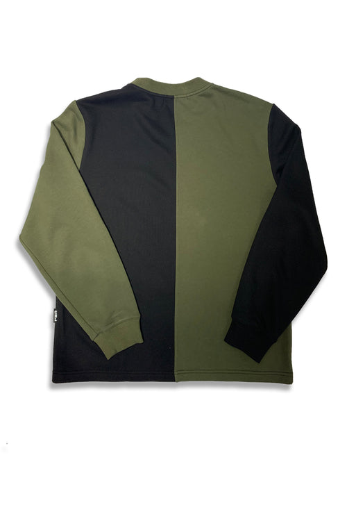 Carbali Colorblock Sweatshirt In Black/Green