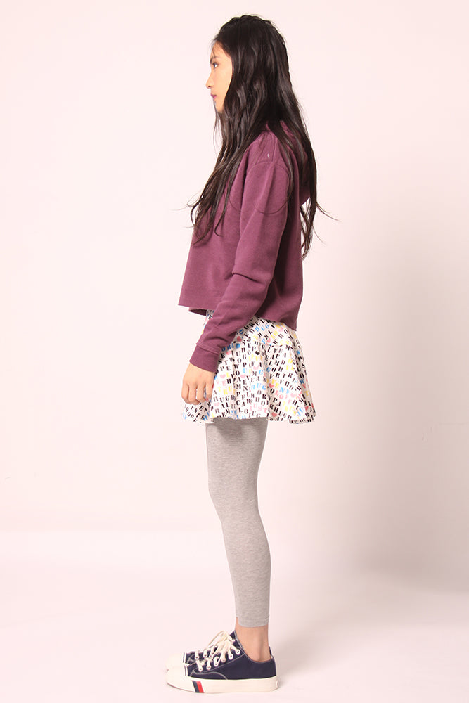 Printed Skirt with cotton Legging