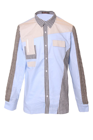 Color Block Checkered Hoody shirt