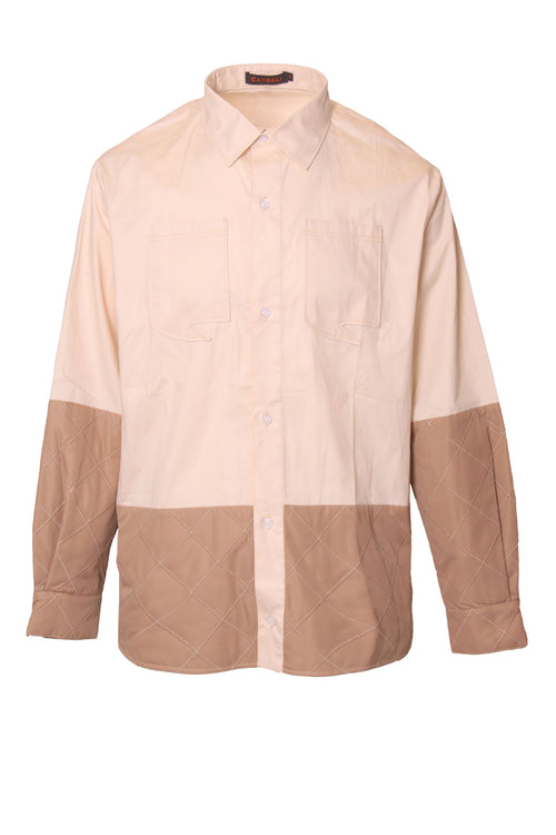 Regular Shirt with colour block and contrast buttons