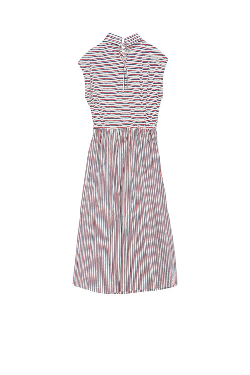 Carbali exclusive smock dress in mono stripe
