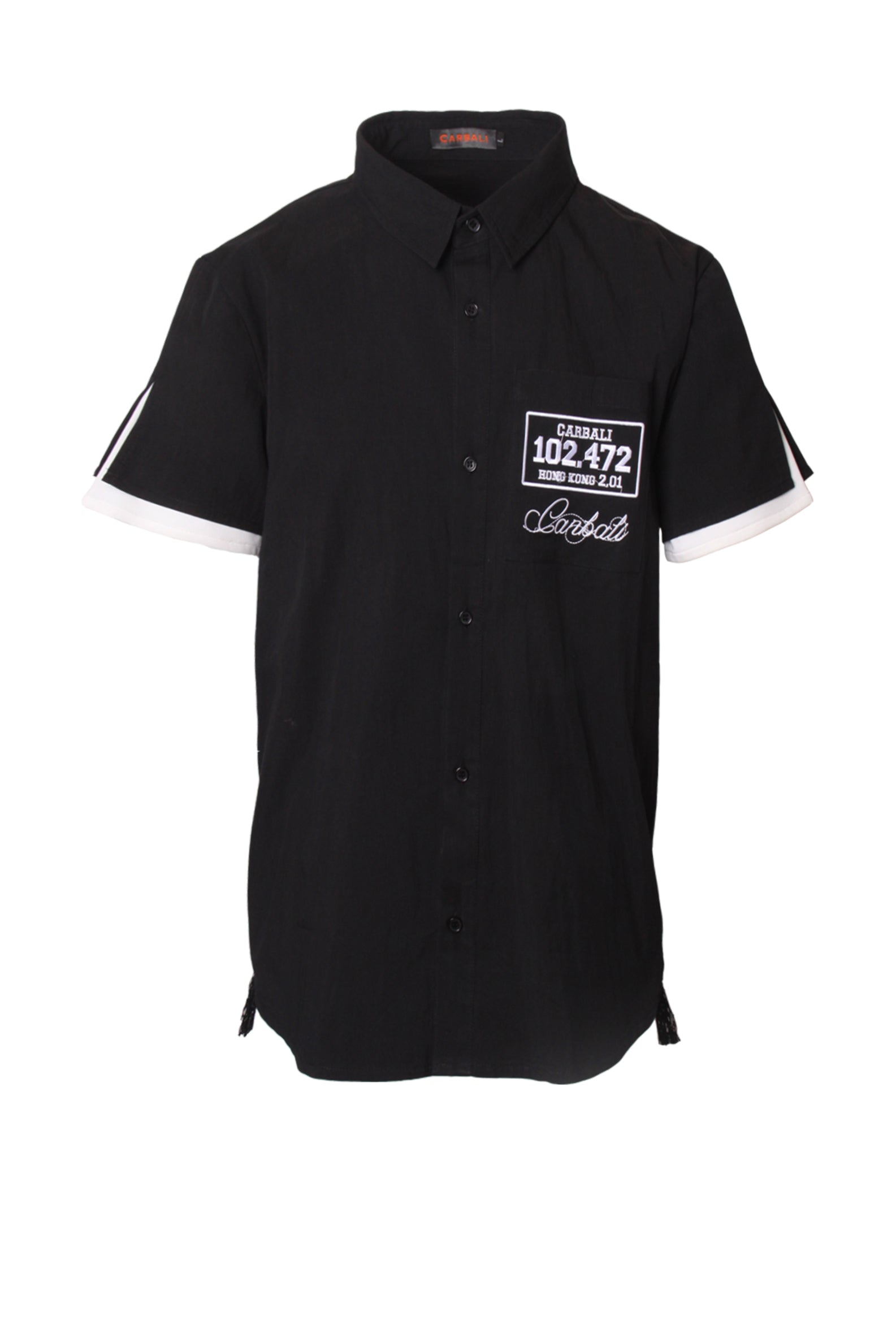 Carbali Menswear shirt with embroidered logo