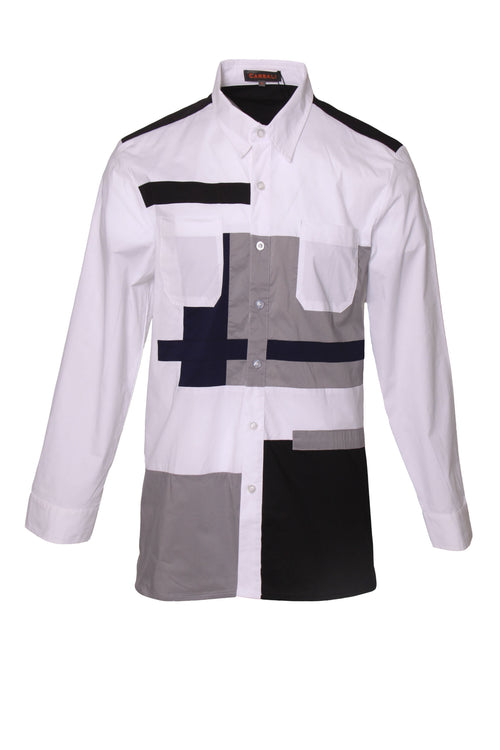 Special geometric patchwork shirt