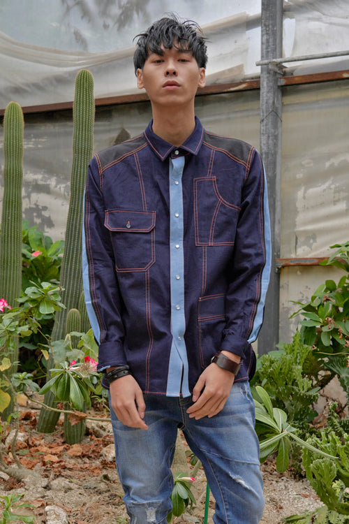 Vintage pocket denim shirt