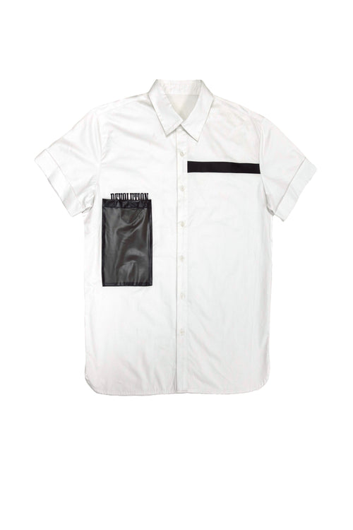 Carbali Short sleeve shirt with plastic pocket