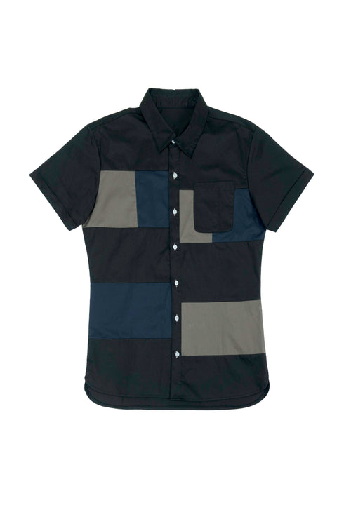 Vintage patchwork men shirt