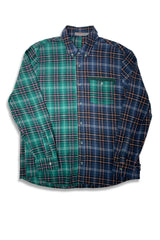 Carbali Colorblock Shirt In Blue/Green