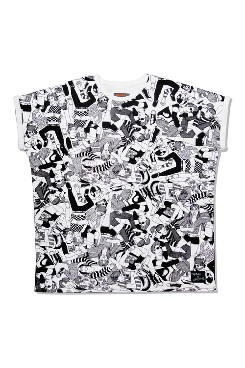 All over illustration printed Tee