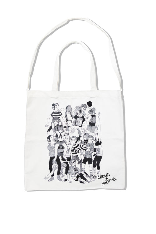CARBALI DESIGN x Jan Curious tote bag