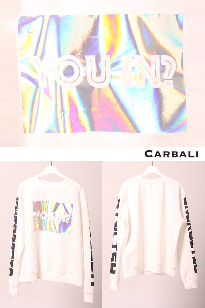Black Holographic Pullover