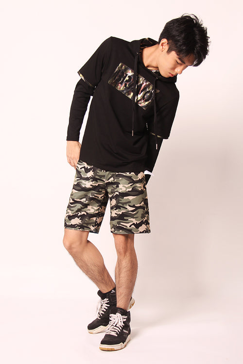 Printed Double Face Shorts