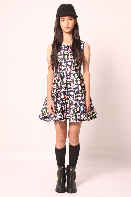 Printed polyester Dress