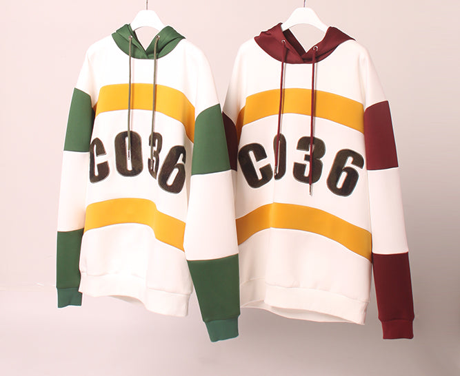 Colour Blocking scuba Hoodie