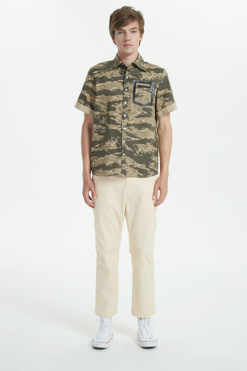 Short Sleeve Shirt in Camouflage