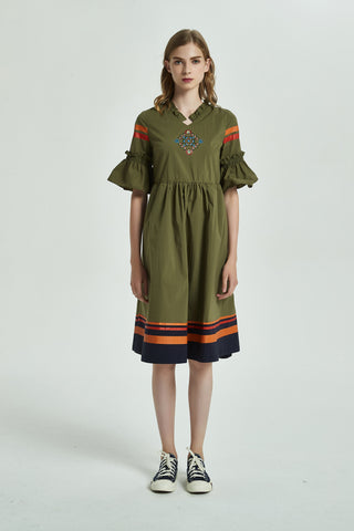 Pattern Hoodie Dress